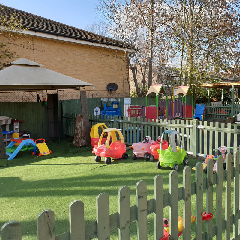 Some of the outdoor nursery equipment at Little Cedars, Streatham