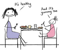 Healthy eating is also yummy!