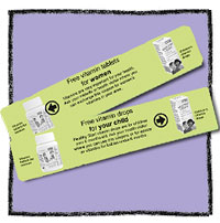 Vouchers are redeemable in thousands of shops, supermarkets & pharmacies